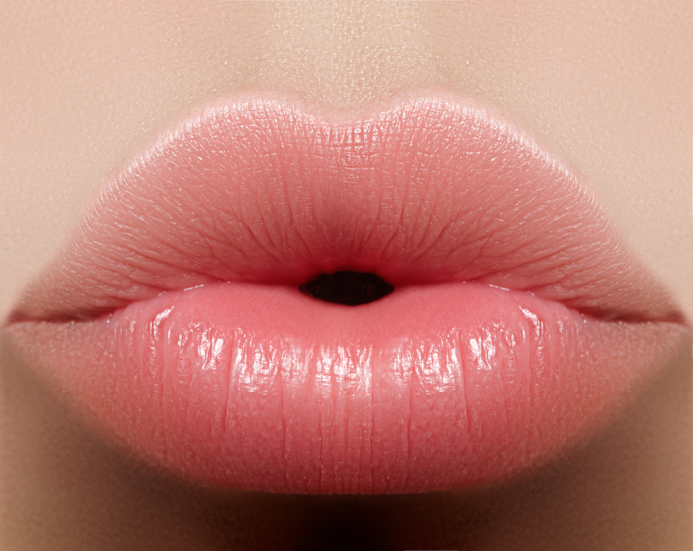 zoomed picture of lips