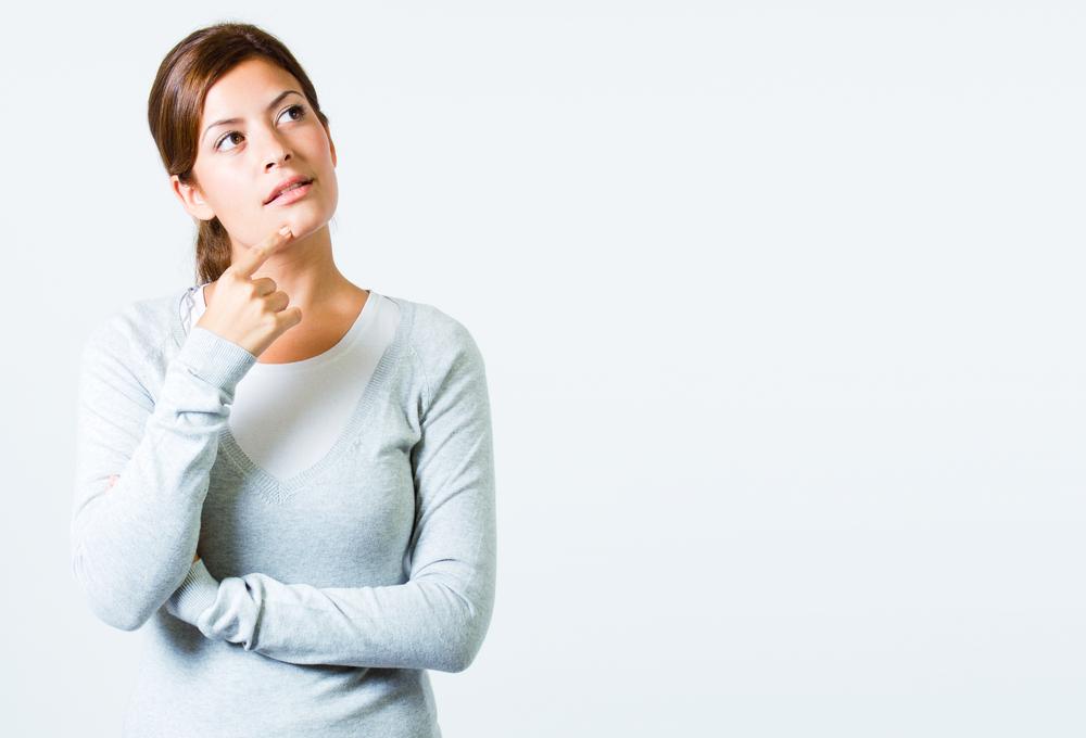 woman poising thinking