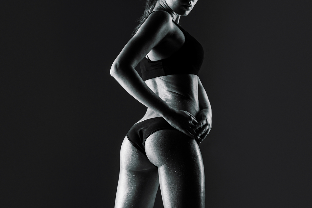 woman's figure looking back