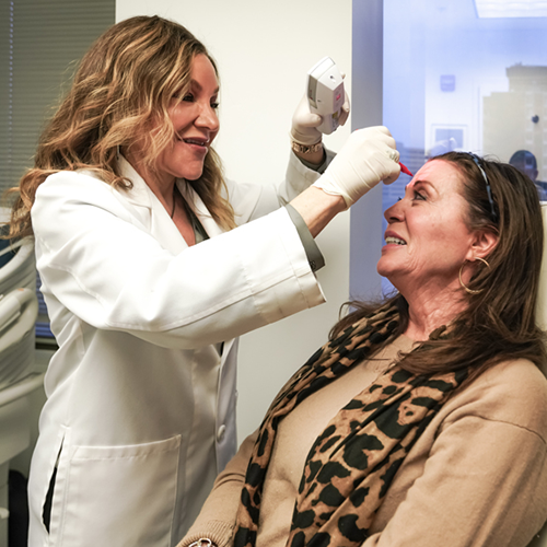 Dr. Tina West and patient